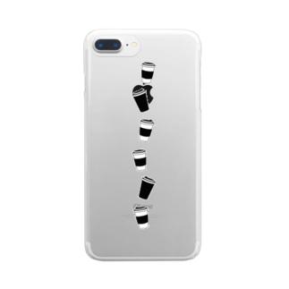 コーヒーカップ Clear smartphone cases