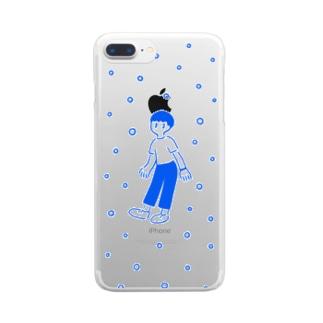 サイダー少年 (ブルー) クリアスマートフォンケース