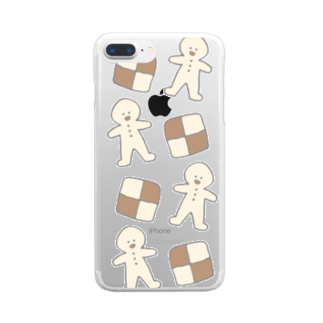 (  saki  )のクッキー Clear smartphone cases