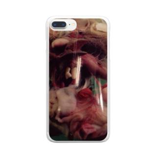トノサマガエルのホルマリン漬け Clear smartphone cases