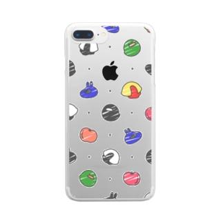 透けてるうさぎの好きなもの(黒)~Plusサイズ~ Clear smartphone cases