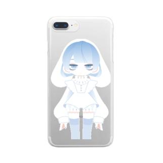 ベイビーブルードッグ Clear smartphone cases