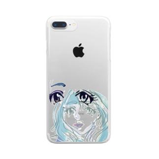 福笑いchan Clear smartphone cases
