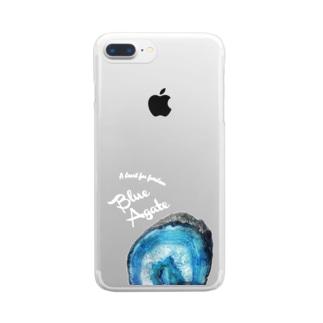 青瑪瑙 鉱物といっしょ Clear smartphone cases