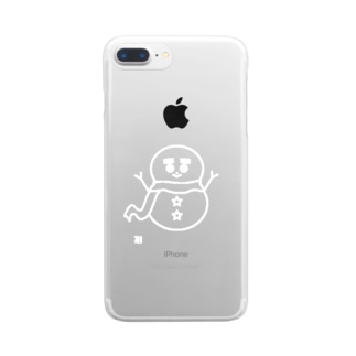 無色の雪だるま Clear smartphone cases