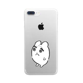 たたずむハム公ちゃん Clear smartphone cases