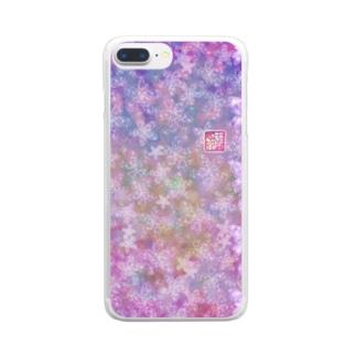 「花籠」Series * butterflyhearts pink Clear smartphone cases