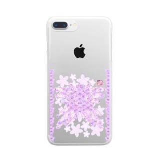「花籠」Series * butterflyhearts Clear smartphone cases