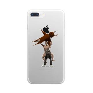 捕まえたよ Clear smartphone cases