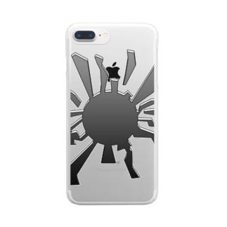 ヒビ Clear smartphone cases