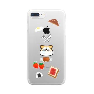 食いしん坊コロ Clear smartphone cases