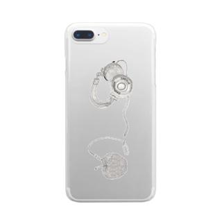 リンゴヘッドフォンクリアiPhoneケース Clear smartphone cases