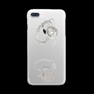 sanpunkan-projectのリンゴヘッドフォンクリアiPhoneケース Clear smartphone cases
