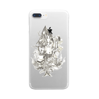 sanpunkan-projectの草食男子iPhoneケース Clear smartphone cases