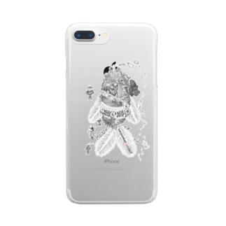 魚潜水艦iPhoneケース Clear smartphone cases