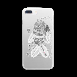 sanpunkan-projectの魚潜水艦iPhoneケース Clear smartphone cases