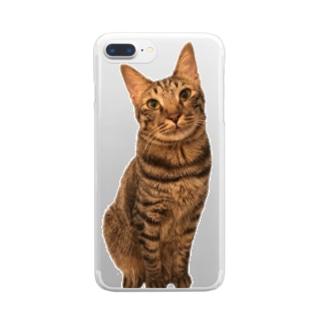 こんぶ店長 Clear smartphone cases