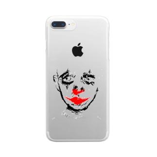 clown plain Clear smartphone cases