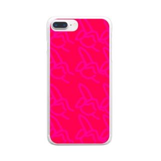 びゅーん Clear smartphone cases