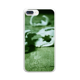 朽ちる Clear smartphone cases