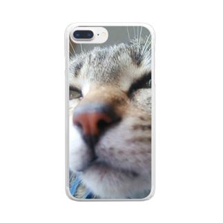 ニャンタですがなにか? Clear smartphone cases