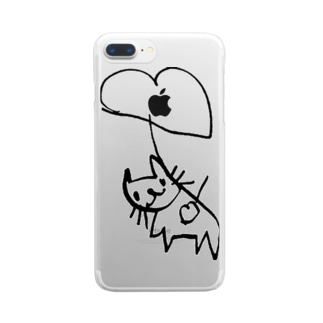 ふうせんねこ Clear smartphone cases