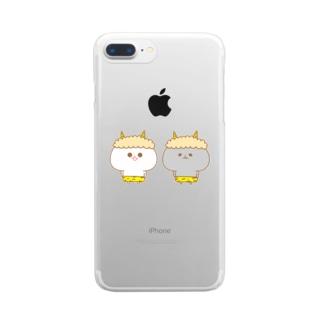 みじうら(鬼) Clear smartphone cases