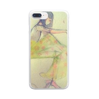 春の砂糖菓子系女子 Clear smartphone cases