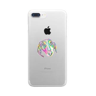 Flamingo ParadeのMs.後藤 Clear smartphone cases