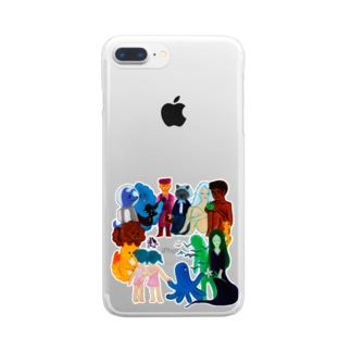 Characters Clear smartphone cases