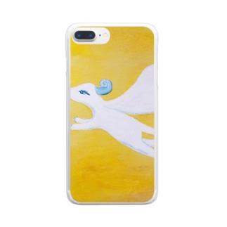 真昼の翼 Clear smartphone cases