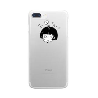 しゅーるかわいいせかい Clear smartphone cases