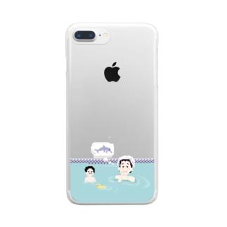 想像してごらんイルカ Clear smartphone cases
