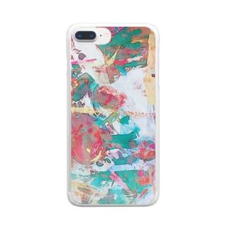 抽象絵画 Clear smartphone cases