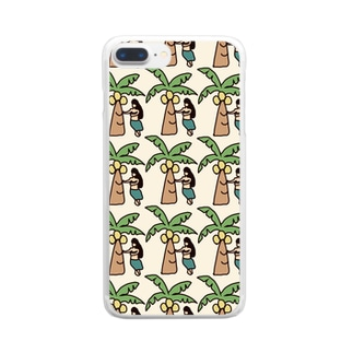 ハワイ柄 Clear smartphone cases