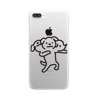 地獄の番人ペロス Clear smartphone cases