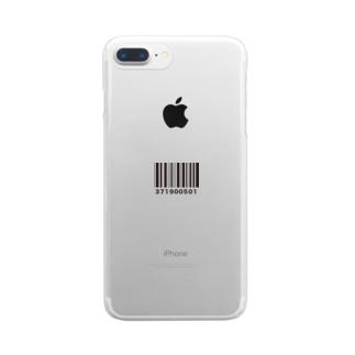 バーコード Clear smartphone cases