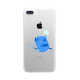 チョウチンアンコウくん Clear smartphone cases