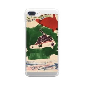 カメ戦車〜南北砂漠の旅〜 Clear smartphone cases