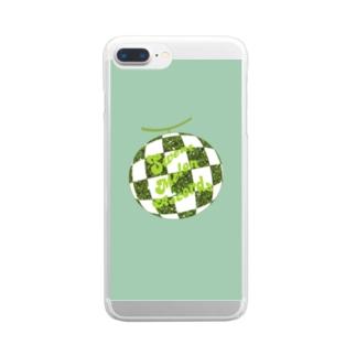 Sweat Melon Records Melonball Clear smartphone cases