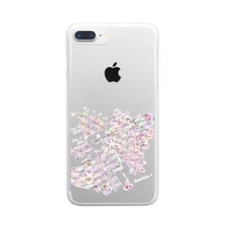「花籠」Series * foxjewely_color Clear smartphone cases