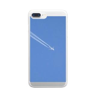 海外へ高飛び Clear smartphone cases