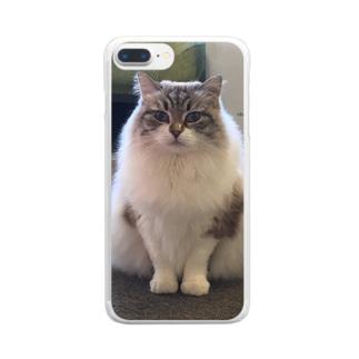 ポコ♀サイベリアン Clear smartphone cases