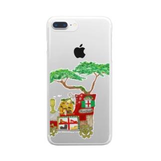 グリちゃん 靴磨き屋さん Clear smartphone cases