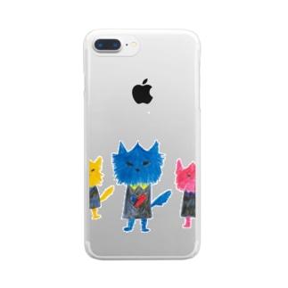 ノラヌコ3兄弟 Clear smartphone cases