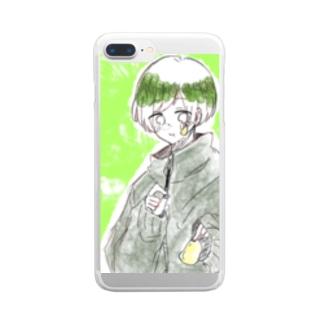 ほんわか Clear smartphone cases