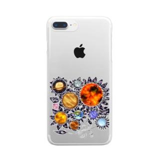 「花籠」Series * planetflower Clear smartphone cases