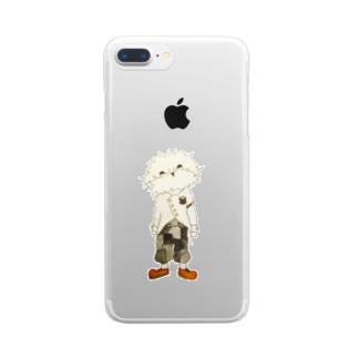洒落たシェリー Clear smartphone cases