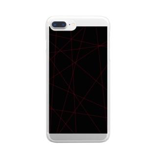 レーザービーム Clear smartphone cases