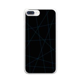 レーザービーム青 Clear smartphone cases